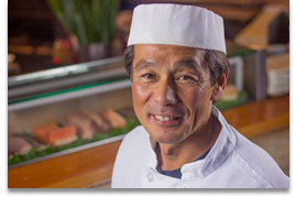 Shigeya Jinno - Chief sushi chef, team